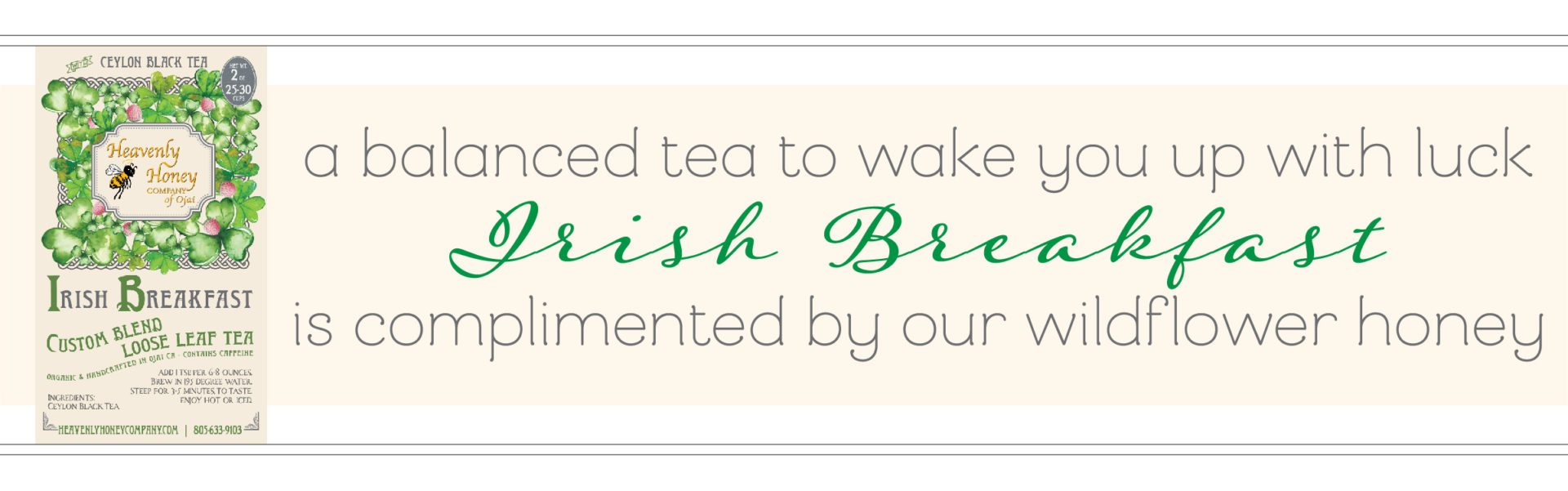 Irish Breakfast Custom Blend Tea